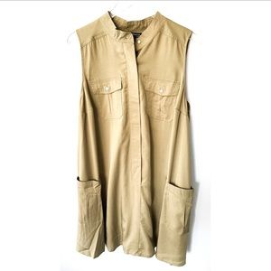 Sharagano Military Button Down Dress B129 NWOT